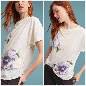 NWT Anthropologie Calpernia Cowl Neck Floral Top